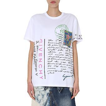 Givenchy Bw707z3z3m100 Women's White Cotton T-shirt