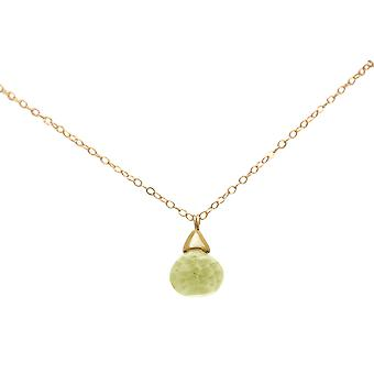 Gemshine Women's Necklace Pendant Gilded Lemon Quartz Drop Jaune