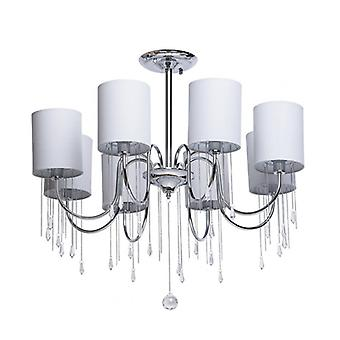 Chrome Ceiling Light Elegance 8 Bulbs 63 Cm