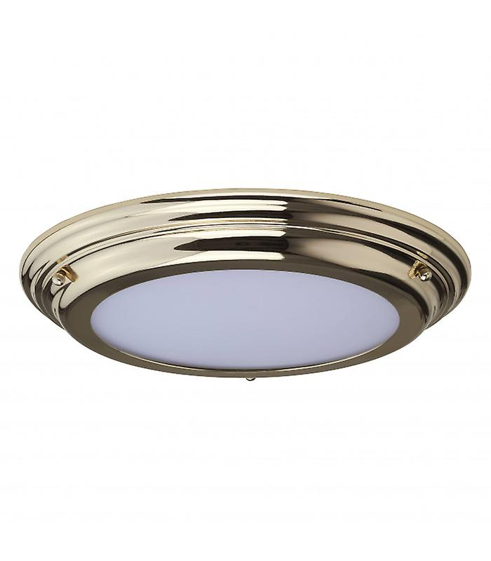 Welland Ceiling Lamp, Polished Brass, Opal Glass, Led Module, Ip44