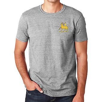 Le Régiment Royal de Queens brodé Logo - armée britannique officiel coton T Shirt