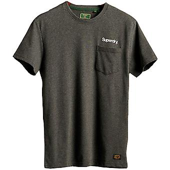 Superdry Mens Classic Logo Slim Fit Crew Neck Tela T Shirt