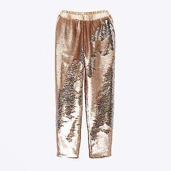Delicate Love  - Sequin Trousers - Nude/Pink