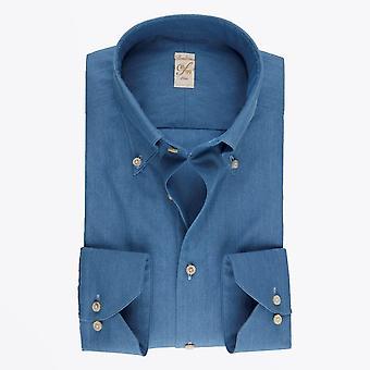 Stenstroms  - Cotton Denim Shirt - Blue