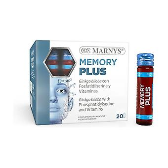 Memory Plus 20 ampoules of 10ml