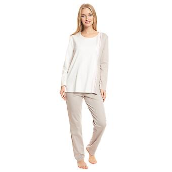 Féraud High Class 3201217-16800 Women's Ivory-Greige Cotton Pyjama Set
