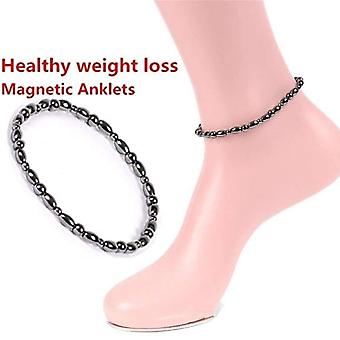 Anklet Bracelet Slimming Weight Loss Anti Cellulite Women Body Health Care Physical Therapy Black