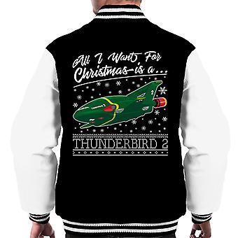 Thunderbirds Kaikki mitä haluan jouluksi on Thunderbird 2 Miehet&s Varsity Jacket