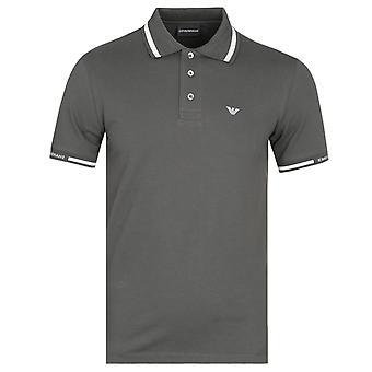 Emporio Armani Green Twin Tipped Polo Shirt