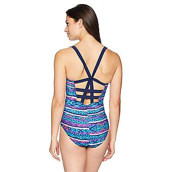 Coastal Blue Women's One Piece Swimsuit, Diamond pop, S