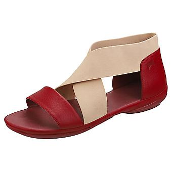 Camper Right Nina Crossover Sella Womens Slip On Sandals in Red