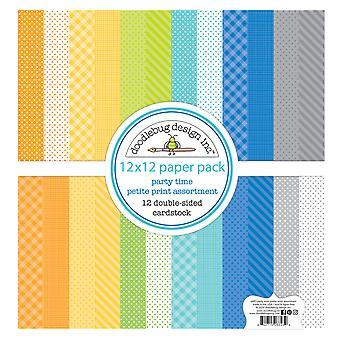 Doodlebug Design Party Zeit 12 x 12 Zoll Petite Print Papier Pack