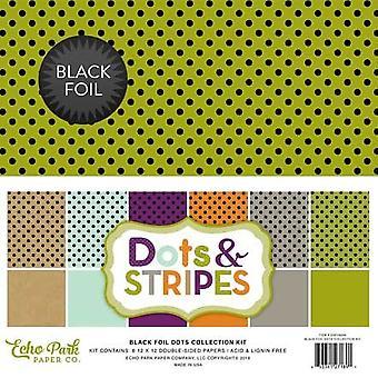 Echo Park Black Foil Dot 12x12 Inch Collection Kit