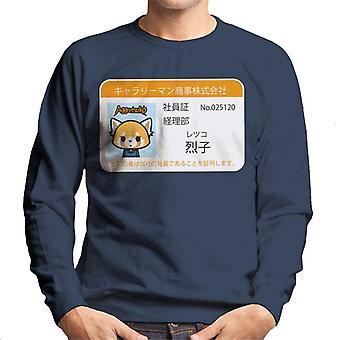 Aggretsuko Retsuko ID Card Design Men's Sweatshirt