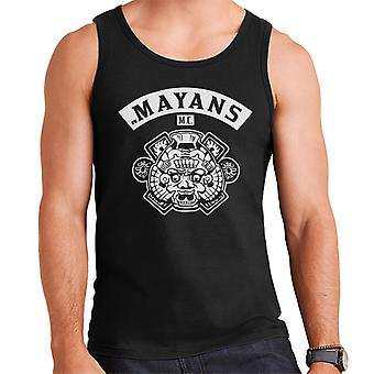 Mayans M.C. Motorcycle Club Face White Logo Emblem Men's Vest
