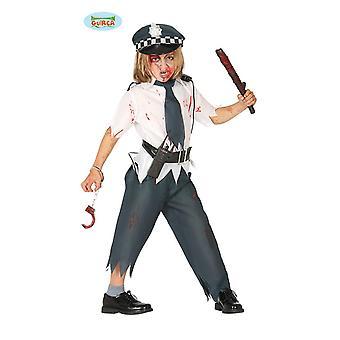 Zombie Polizistenjunge Hooror poliisi Halloween puku pojat