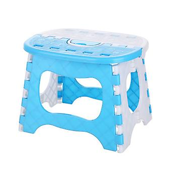 25x19x19cm Portable Folding Plastic Stool Blue
