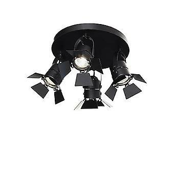 Einstellbare 4 Licht Decke Flush Light Black, GU10
