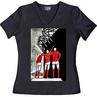 Hadrian Richards United Trinity V-Ausschnitt schwarze Frauen's T-Shirt