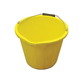 Faithfull 3 Gallon 14 litre Bucket - Yellow FAI3GBUCKYEL
