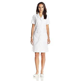 Dickies Women's Button Front Scrubs Dress, White, X-Small