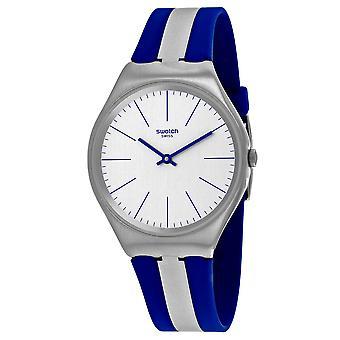 Swatch Men's Skincarat Silber Zifferblatt Uhr - SYXS107