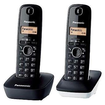 Trådløs telefon Panasonic KX-TG1612SP1 svart hvit (2 stk)