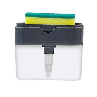 Dozownik pompy mydła z uchwytem na gąbkę Czyszczenie pojemnika dozującego płyn ręczny prasa do mydła Organizator kuchenny Cleaner Tool