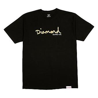 Diamond Supply Co OG Script T-shirt Or noir