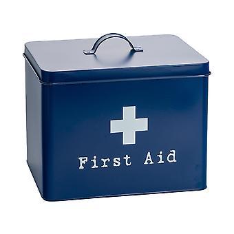 Scatola di primo soccorso industriale - Vintage Style 2-Tier Steel Medicine Storage Organiser - Navy