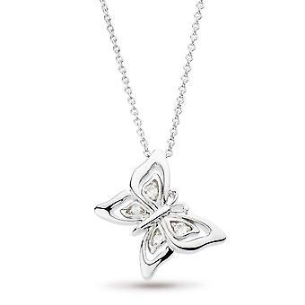 "Kit Heath Blossom Flyte Butterfly White Topaz 17"" Necklace 90352WT"