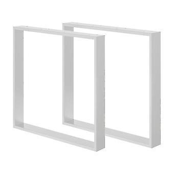 Sett med hvite U bordben 72 cm (erme 8 x 2) (1 stk)