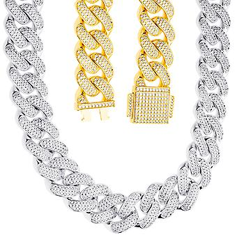 ICED OUT Kuuban linkki Bling Armorchain - 18mm