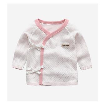 Vauvan/ paidan, Puuvilla, Pitkähihainen paita, V-pääntie Sleepwear