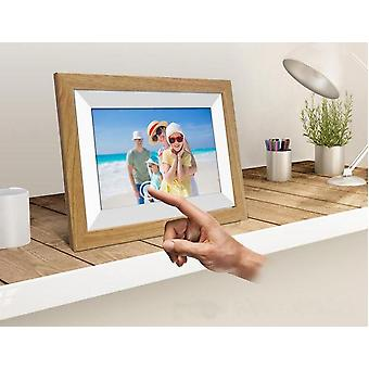 10.1 Inch Wifi Wooden Digital Photo Frame With Ios Android 6.0operating Syatem And Remote Control
