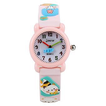 Impermeable Luminoso LED Digital Touch Reloj de niños - Rosa