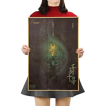 Wand Home Decor 50.5x35cm - Kraft Papier, Stil Cartoon Filmplakat