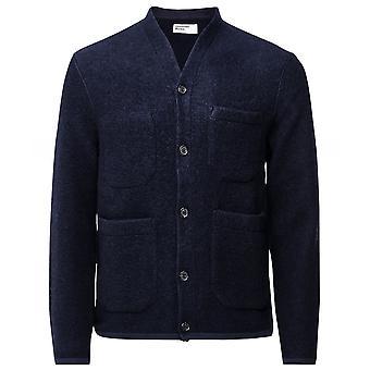 Universal Works Wool Blend Button-Through Cardigan