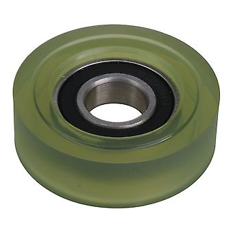 15mm ID Nylon Pulley Wheel Roller Ball Bearing 6002 Bathroom Guide Wheel