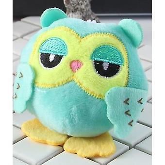 Sweet, Plush Stuffed Owl Design Toy Keychain (9cm)