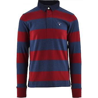 GANT الأحمر الثقيلة Rugger قميص