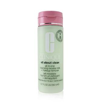 All About Clean All-in-one Cleansing Micellar Milk + Makeup Remover - Combination Oily To Oily - 200ml/6.7oz