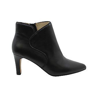 Adrienne Vittadini Womens Samele Leather Pointed Toe Ankle Fashion Boots