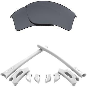 Replacement Lenses & Kit for Oakley Flak Jacket XLJ Silver Mirror & White Anti-Scratch Anti-Glare UV400 by SeekOptics