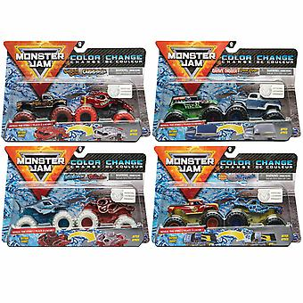 Monster Jam - Colour Change - Pack of 2 Vehicles 1:64 (One Supplied)