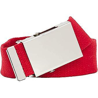 Colorful fabric belt 4cm width women's men