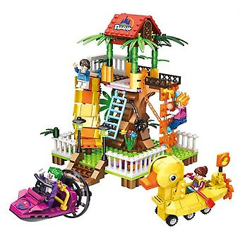 Amusement Park Ferris Wheel Jumper Series Assembled Diy Building Blocks Children's Toys