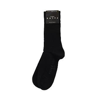 Falke Family Men Navy Cotton Blend Calf Length Adult Socks