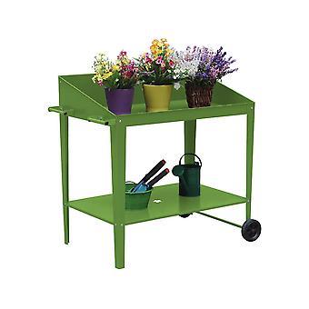 "Mesa para macetas "" Orchidee "" - 90 x 55 x 90 cm - Verde"