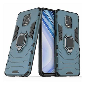 Keysion Xiaomi Redmi Note 9S Case - Magnetic Shockproof Case Cover Cas TPU Blue + Kickstand